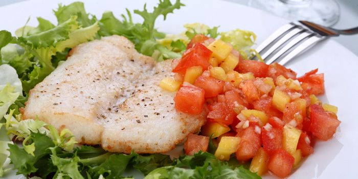 Whitefish with Tomato Salsa