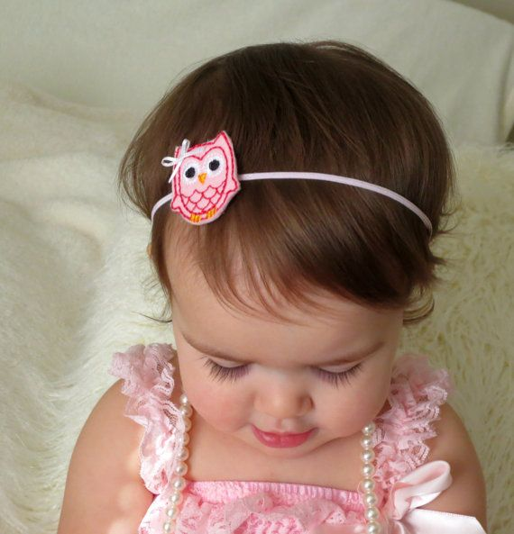 Pink or Red Owl Baby HeadbandOwl Headband by HarperSophiaBoutique, $4.99
