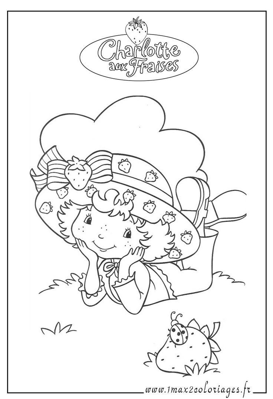 Coloriage Charlotte Aux Fraises 3d  colorier Dessin  imprimer