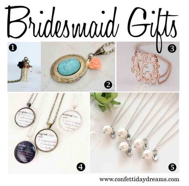 View our collection of bridesmaid gift ideas from this week's Wedding Trends feature.