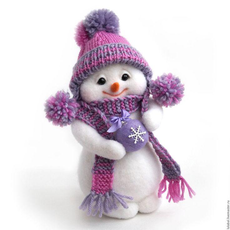 Купить Снежка. Снеговик, снеговичок. Валяная игрушка. - снеговик, снеговичок…