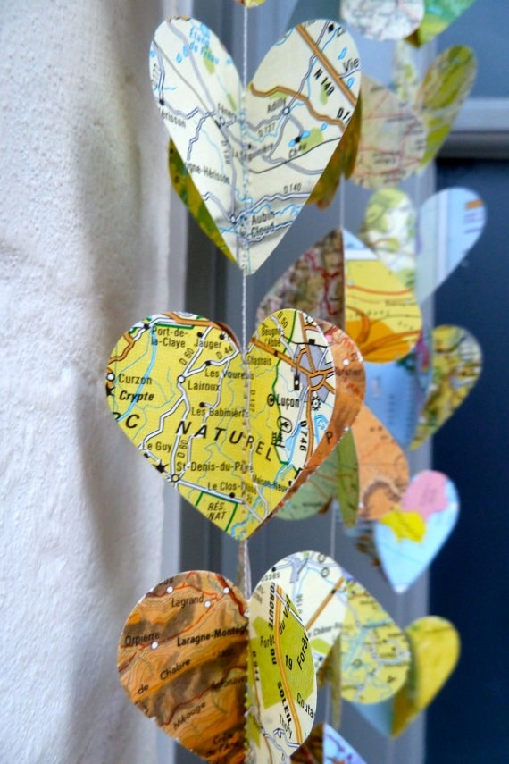 Travel theme wedding,garland,Birds of the World,Vintage Map,Wedding…
