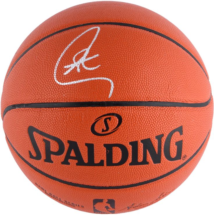Stephen Curry Golden State Warriors Autographed Adam Silver Indoor/Outdoor Basketball