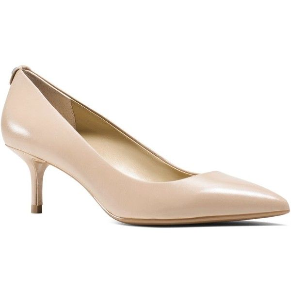 Ladylike kitten heels can still command attention. Case in point: These streamlined, sophisticated leather pumps by Michael Michael Kors.