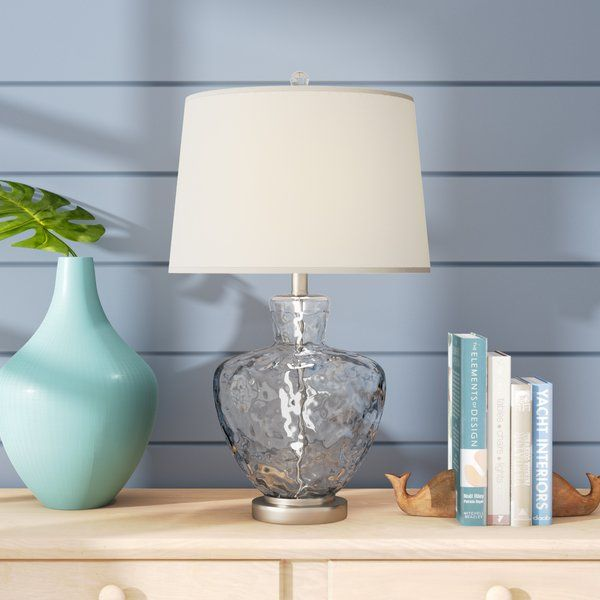 Skyla Glass And Metal 25 Table Lamp Table Lamp Clear Table Lamp Lamp