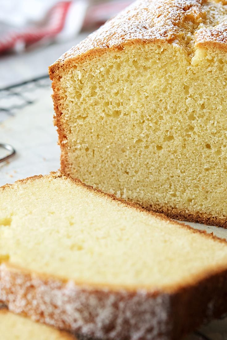 Velvet Pound Cake | King Arthur Flour (Add 4 tsp fresh ground cardamom. And maybe orange zest. Yeah.)