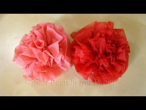 Servetten vouwen roos. Pompons maken van Servetten -  Bloemen maken - Ma...