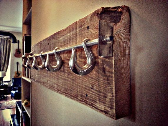 Reclaimed Lumber Industrial Coat Rack by ChampionLimited on Etsy: