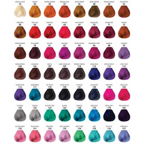Adore Semi Permanent Hair Color 4oz Wella Hair Color Semi Permanent Hair Color Hair Dye Color Chart