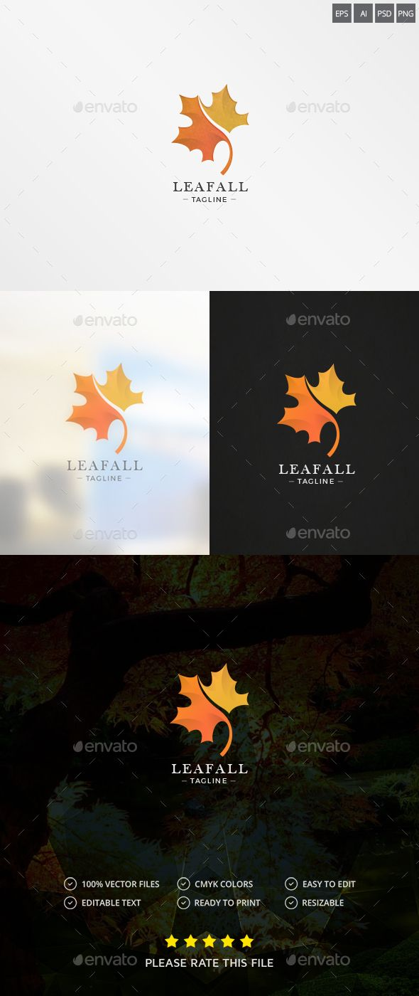Maple Leaf Logo — Photoshop PSD #maple #green • Available here → https://graphicriver.net/item/maple-leaf-logo/18782824?ref=pxcr
