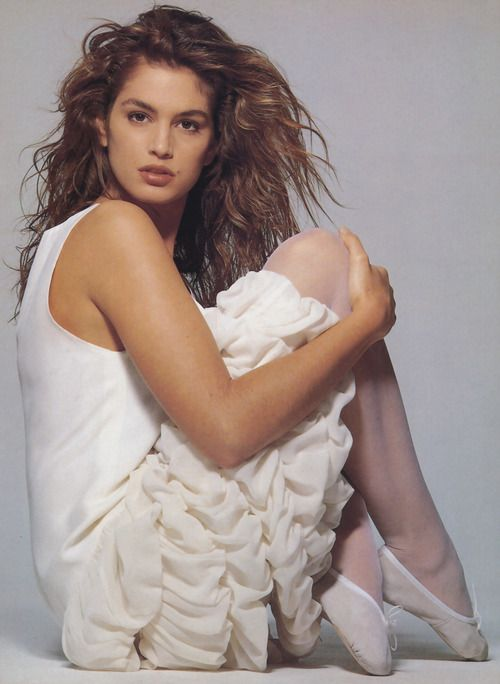 """cindy-ann-crawford:    Cindy Crawford""""Blanco"""", Vogue Italia, 1989Photographed by Patrick Demarchelier"""