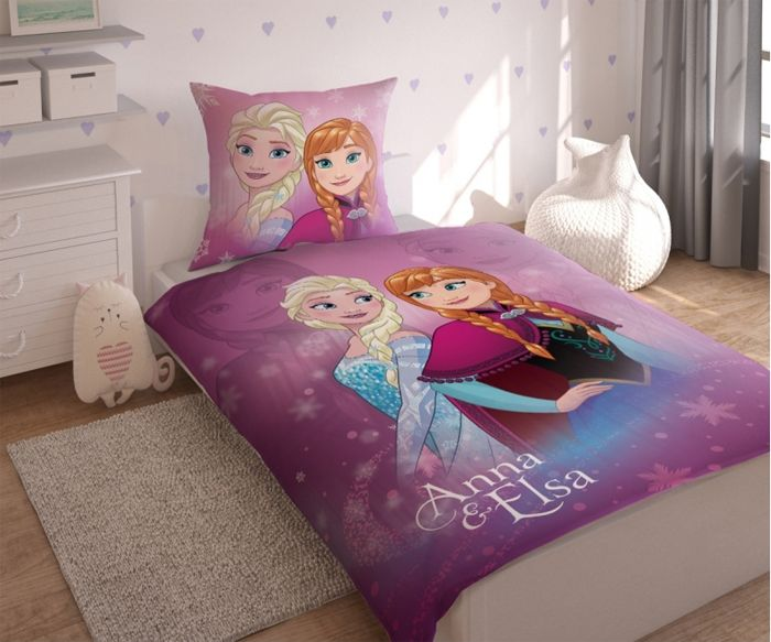 """Παπλωματοθήκη Disney Frozen (Φροζεν) Παιδικη Σετ """"Sisters"""" - memoirs.gr"""