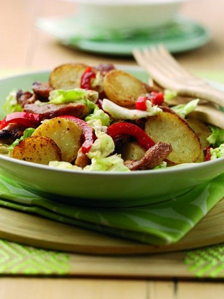 Chinese 5 spice potato and chicken salad