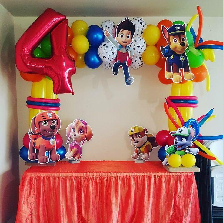 Paw Patrol balloon arch