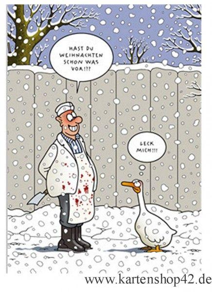 Was vor? - Tetsche-Postkarte zu Weihnachten