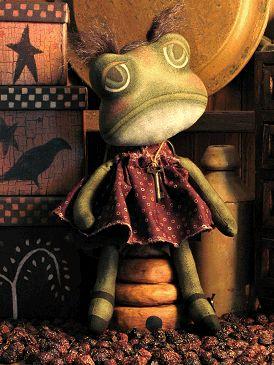 Free Primitive Doll Patterns | primitive frog doll pattern lily pad frog doll pattern 370 hi friends ...