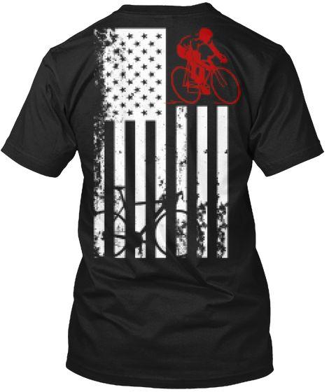 Usa Flag Bicycle T Shirt