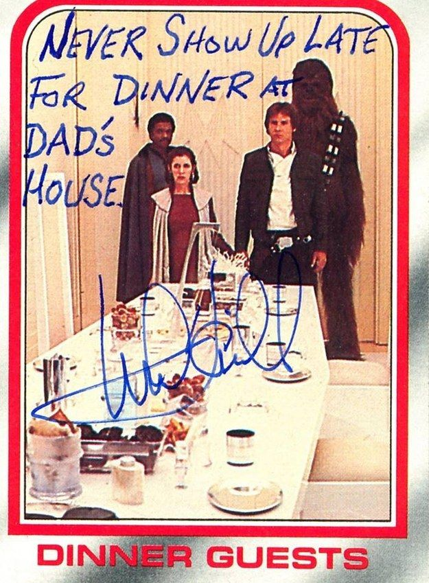 "That goes for the rest of the cast too. | These ""Star Wars"" Autographs From Mark Hamill Are Hilariously Unexpected"