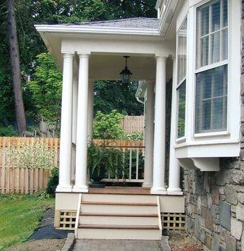 9 best side entrance steps ideas images on pinterest for Side entrance porch designs