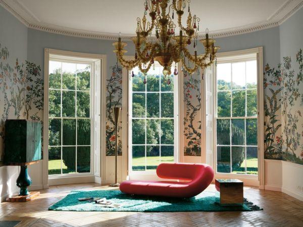 Lounge Sofa Wohnzimmer Barock Kronleuchter