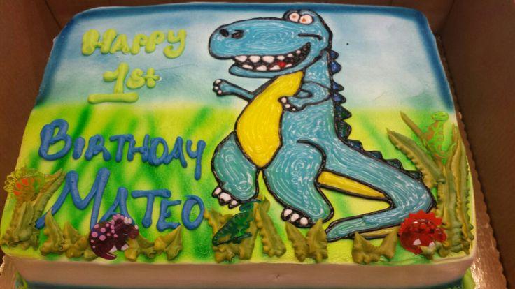 Calumet Bakery Dinosaur Drawing Sheet Cake Boys