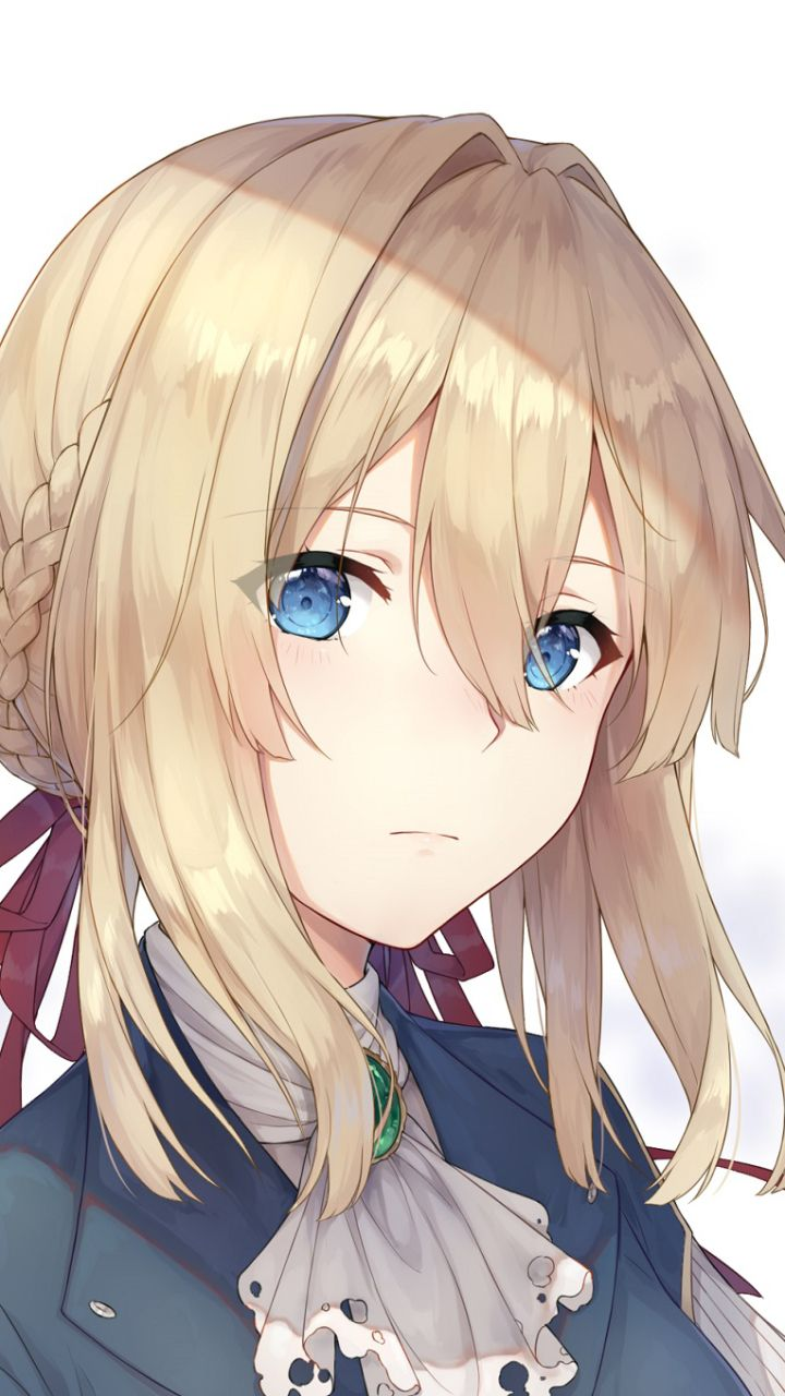 Anime Violet Evergarden Blonde Blue Eyes Face Girl Violet