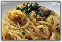 Spaghetti with tuna botargo
