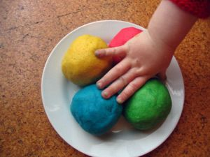Kool Aid Playdough Recipe - Easy to make, smells great and playdough takes on the color of the Kool-Aid