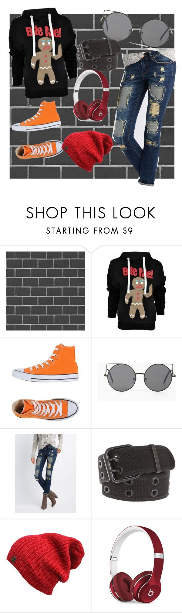 """The irony of wearing that shirt during a zombie apocalypse"" by lrdart ❤ liked on Polyvore featuring Debbie McKeegan, Goodie Two Sleeves, Converse, Torrid, Charlotte Russe and Beats by Dr. Dre"