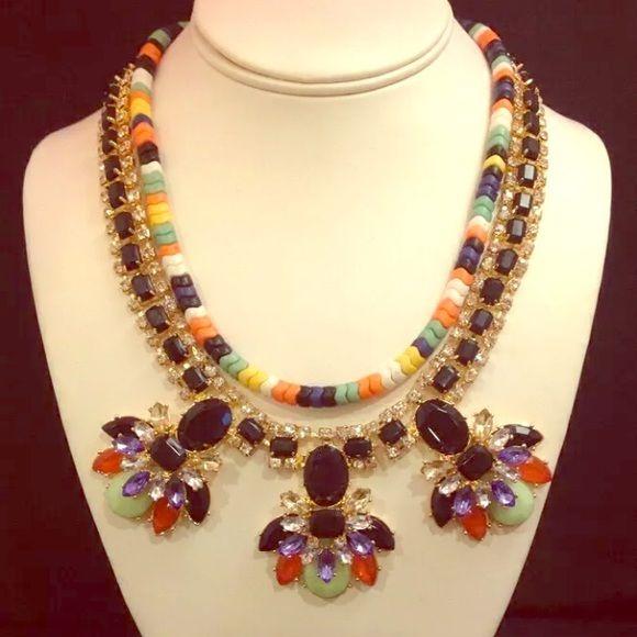 Susan Graver Statement Necklace 2 necklaces in one!  Gorgeous statement piece! Susan Graver Jewelry Necklaces