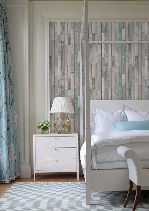 Barn Board Grey Thin Plank Wallpaper Wood Plank Wallpaper Faux