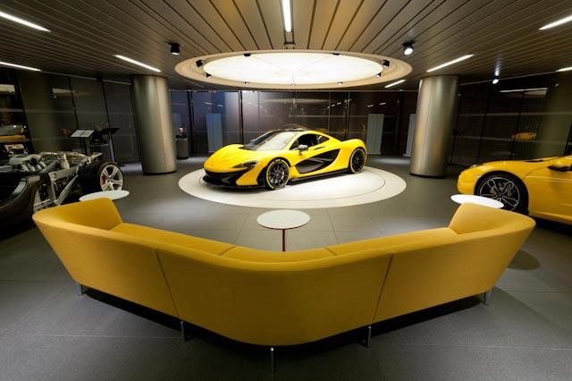 Loop by Lievore Altherr Molina for Arper, pictured at the McLaren showroom in London. Available at Stylecraft.