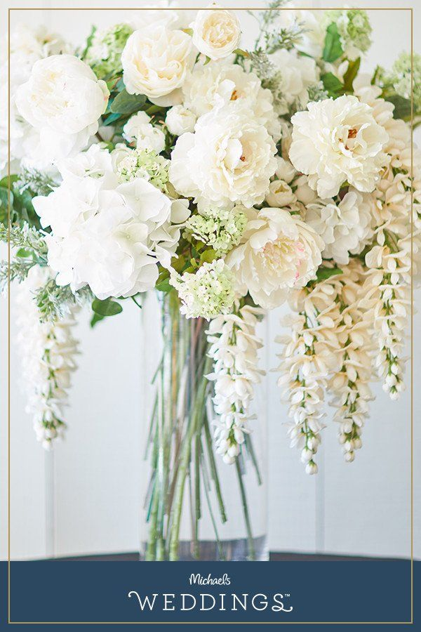 Make this white floral arrangement projects it