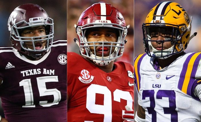 Will the NFL really select five SEC players in the draft's first hour? An NFL.com mock draft says that's a distinct - and historic - possibility.