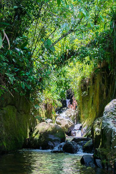 Indiana Jones Waterfall close to Sao Pedro da Serra and Nova Friburgo, in the State of Rio.