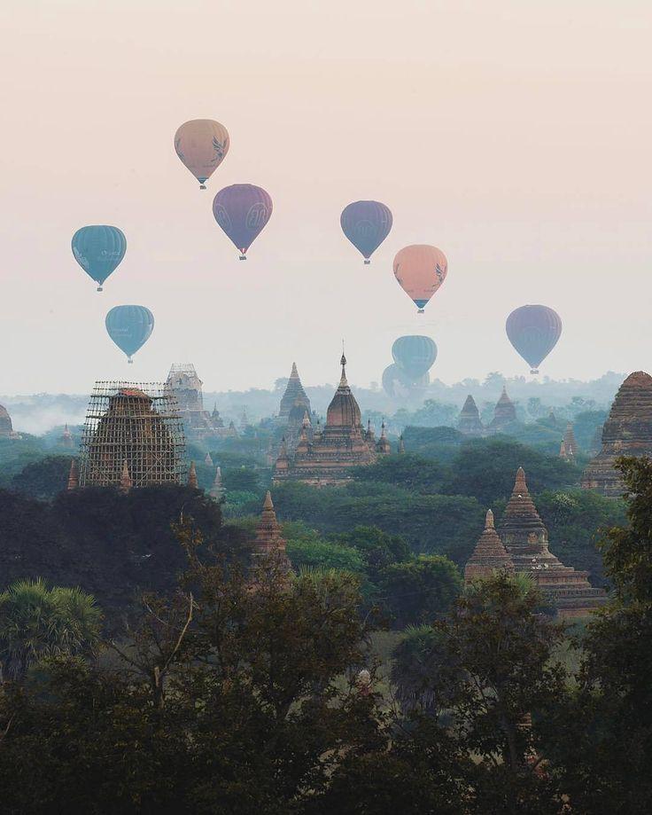 bagan, myanmar Take sunrise hot air trip to secret Buddhist temples