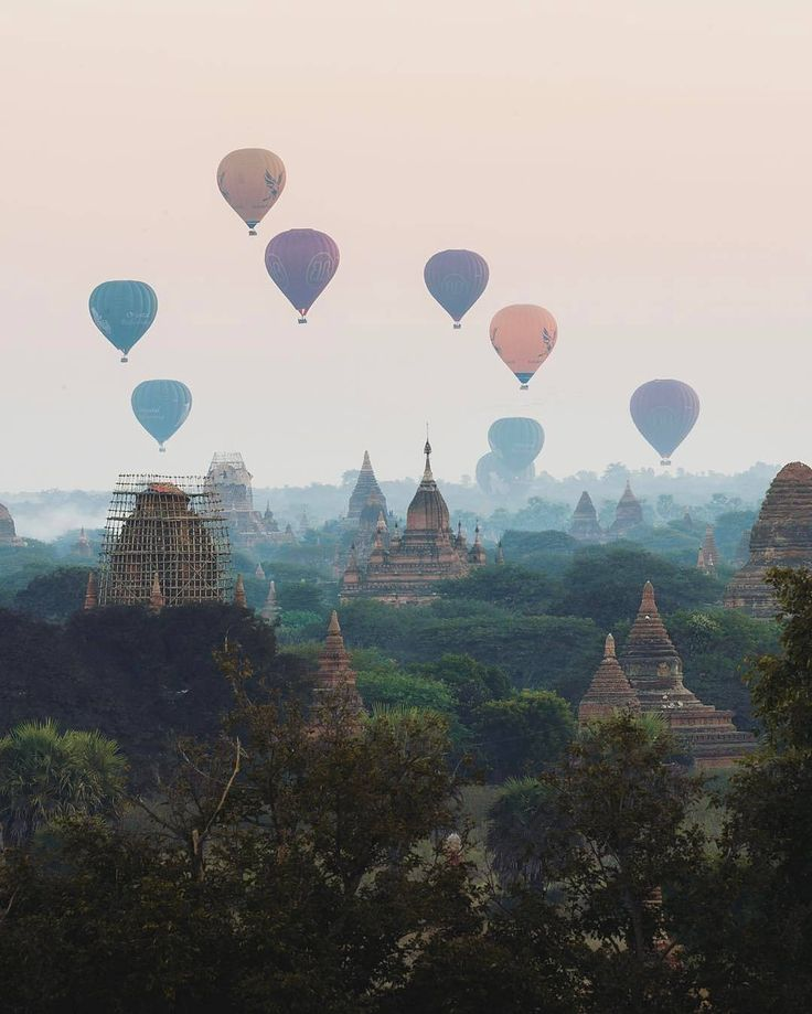 bagan, myanmar Take sunrise hot air trip to secret Buddhist temples. Can't wait to go here one day