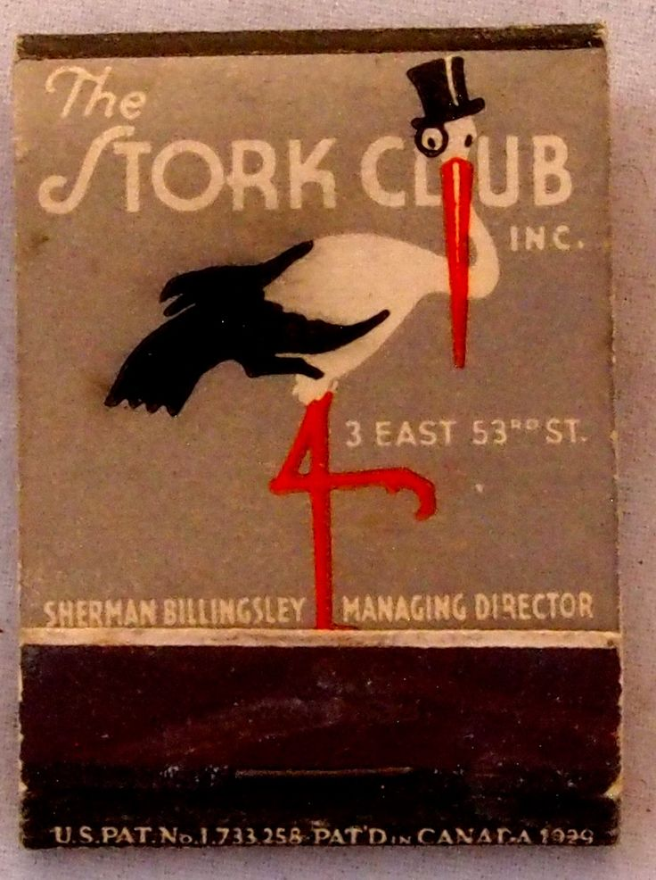 The Stork Club #frontstriker 20 strike #matchbook - To order your Business' own…