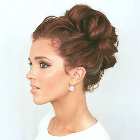 Various Styles To The Messy Top Knot For Short Hai+#Hair #knot #Messy #short #Styles #Top