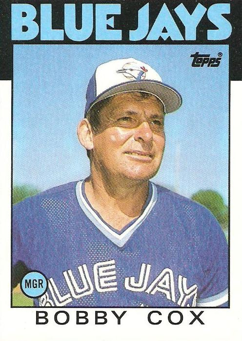 Bobby Cox - Toronto Blue Jay manager 1982 - 85