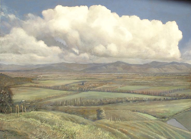 Cloud over Colchagua Oil by Luis Vargas Saaveddra, Collection of Ms. and Mrs. Ed Barlow