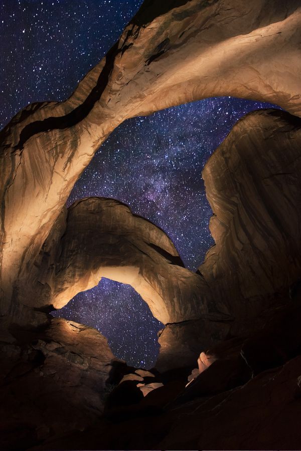 Double Arch.  Arches National Park.  Utah.