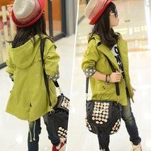 Windjack meisjes jas meisje bovenkleding kids jassen en jassen kinderen peuter vest 3 ~ 15 jaar mode lente herfst MC20(China (Mainland))
