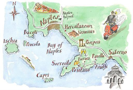 Map of Amalfi coast