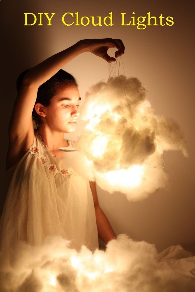 -DIY Cloud Lights Home Decor - how cute for a babys room!                                                                                                                                                                                 More
