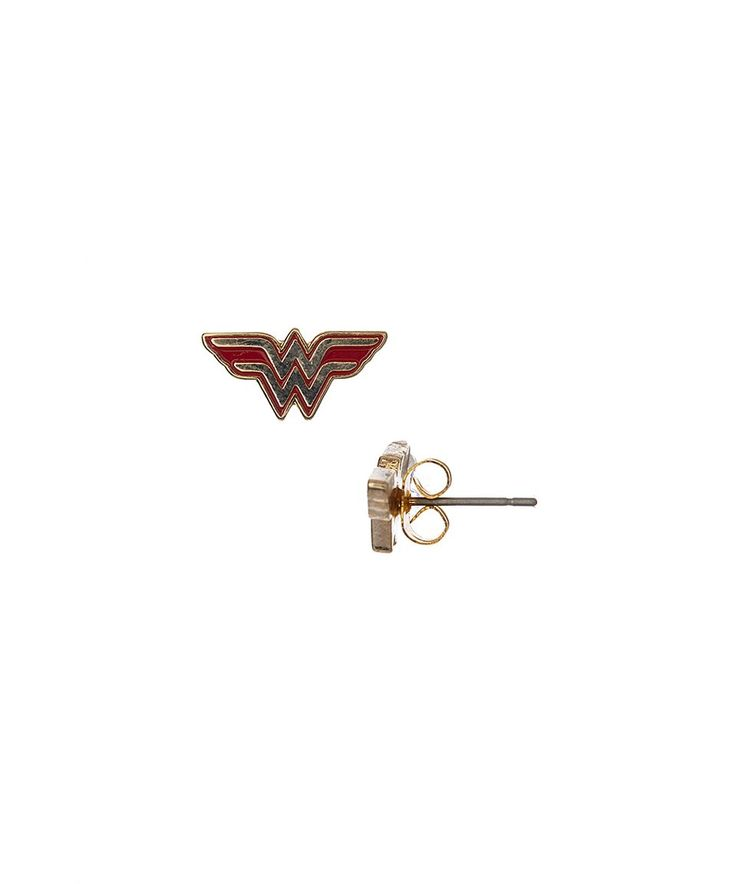 The 25 best wonder woman logo ideas on pinterest wonder woman take a look at this wonder woman logo stud earrings today pronofoot35fo Image collections