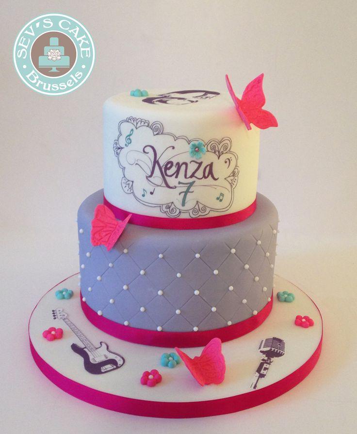 VIOLETTA BIRTHDAY CAKE - CAKE DESIGN SEV'S CAKE BRUSSELS