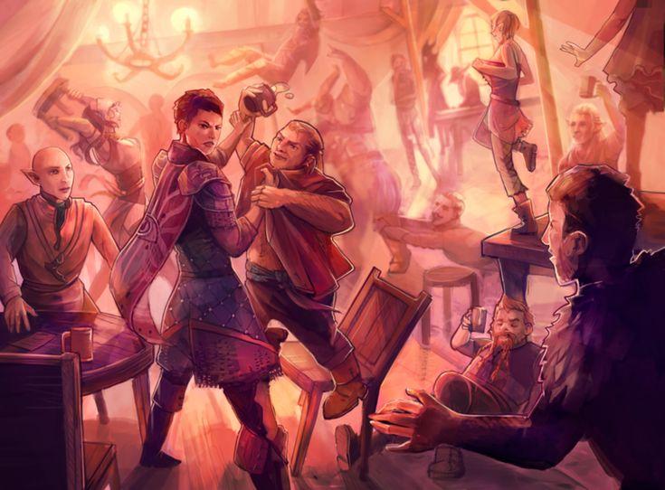танец в таверне картинки блюдо готовят