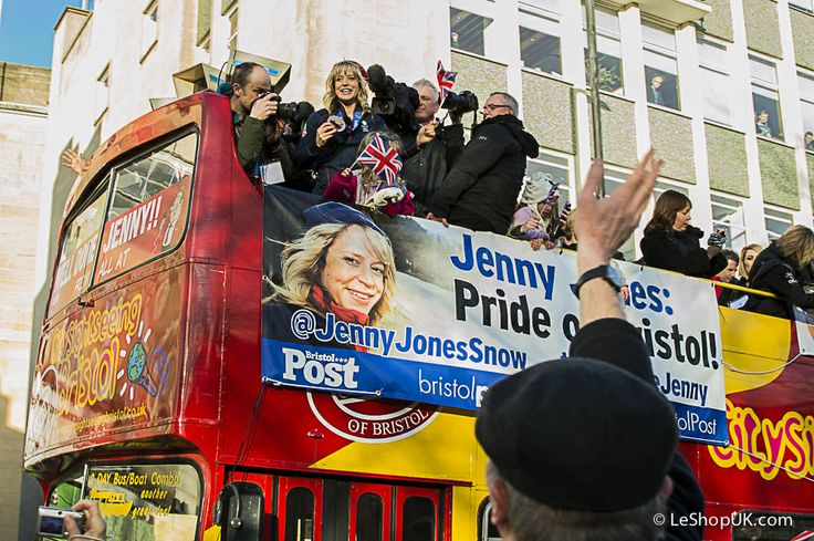 Jenny Jones, who won bronze at the Winter Olympics last month, was given a victory tour through the city streets in an open top bus and we were there to see it.: http://www.lifestyledistrict.co.uk/2014/03/jenny-jones-snowboard/
