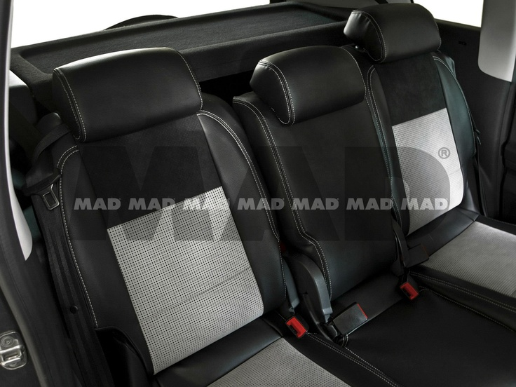 Alcantara® IL silver + Alcantara® Perfo black + Leather Look black